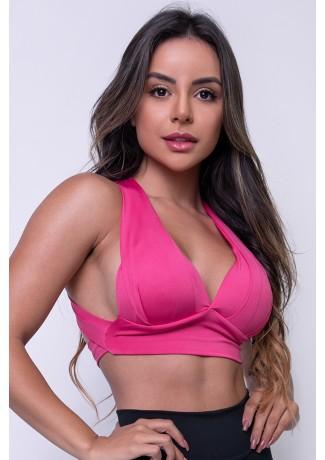 Top Liso com Bojo (Rosa Pink) | Ref: F269-001