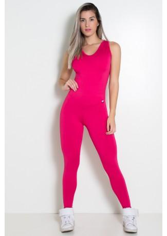 Macacão Fitness Suelene (Rosa Pink) | Ref: KS-F571-004