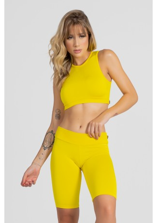 Cropped Anamara Liso ( Amarelo ) | Ref: KS-F602-007