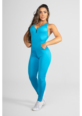 Macacão Fitness Bela Azul Celeste | Ref: KS-F87-005