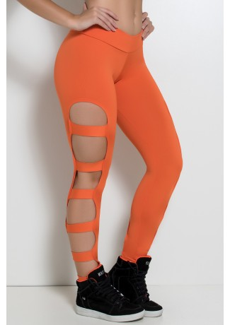 Calça Legging Rasgada (Laranja) | Ref: F98-002