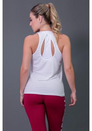 Camiseta de Viscose  com Detalhe em Gota nas Costas (Brancao) | Ref: K2573-C