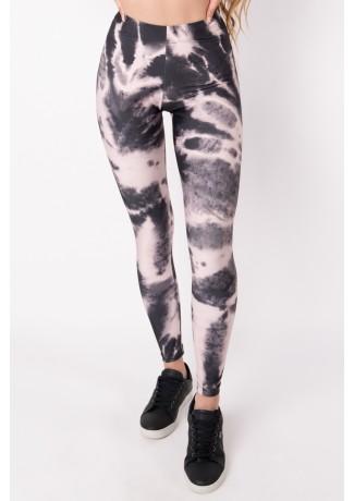 Calça Legging com Elástico Tie Dye (Rosé / Preto) | Ref: K2695-G