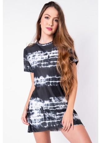 Vestido Estampa Digital Tie Dye (Preto) | Ref: K2828-B