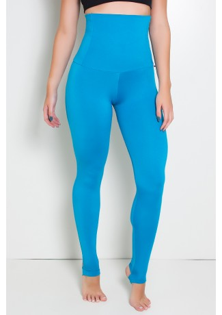 Calça Mirella Modeladora com Pezinho (Azul Celeste) | Ref: KS-F215-005