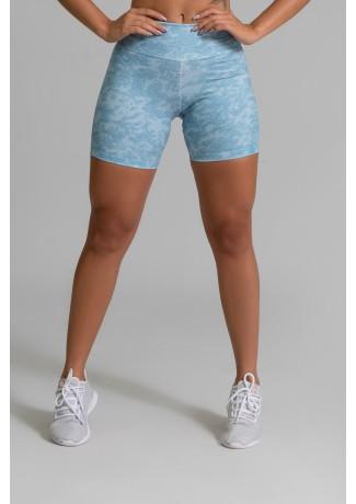 Short Fitness Meia Perna Estampa Digital Blue Lace | Ref: GO369