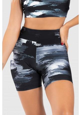 Short Fitness Meia Perna Estampa Digital Gray Shades | Ref: GO236