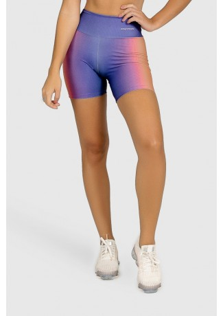 Short Fitness Meia Perna Estampa Digital Orange Boreal | Ref: GO383