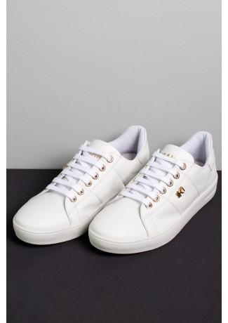 Tênis Mini Sneaker com Cadarço (Branco)   Ref: KS-T42-001