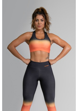 Top Nadador Fitness com Viés Estampa Digital Orange Mix | Ref: GO366