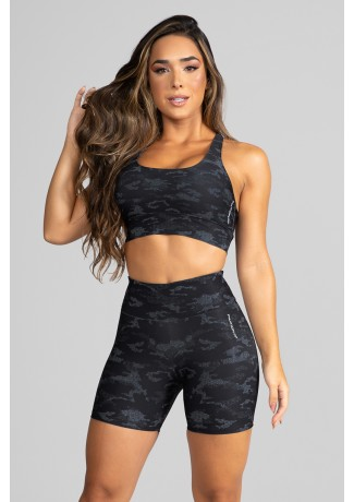 Top Nadador Fitness Estampa Digital Camouflaged Black | Ref: GO182-A