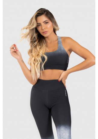 Top Nadador Fitness Estampa Digital Gray Gradient | Ref: GO302