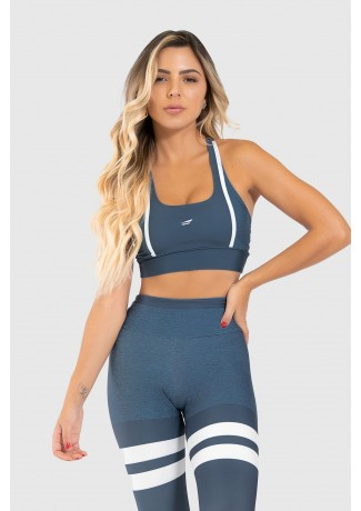 Top Nadador Fitness Estampa Digital United Lines | Ref: GO320