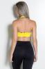 Top Liso com Viés Estampado (Amarelo) | Ref: KS-F128-004